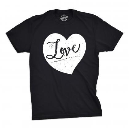 Love Black And White Heart Mens Val..