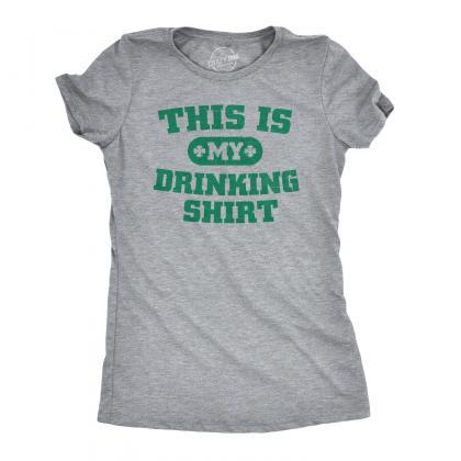 Womens This Is My Drinking Shirt, S..
