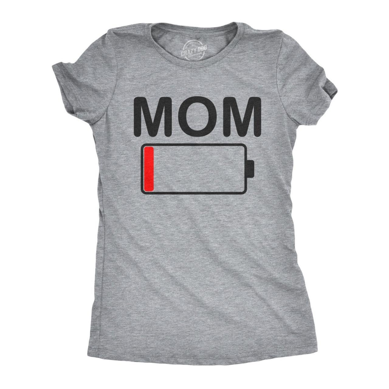 Mom Shirt Funny, New Mom T Shirt, Funny T shirt For Moms, Mom Battery Low T shirt, Tired Mom TShirt, Stressed Out Moms Gift