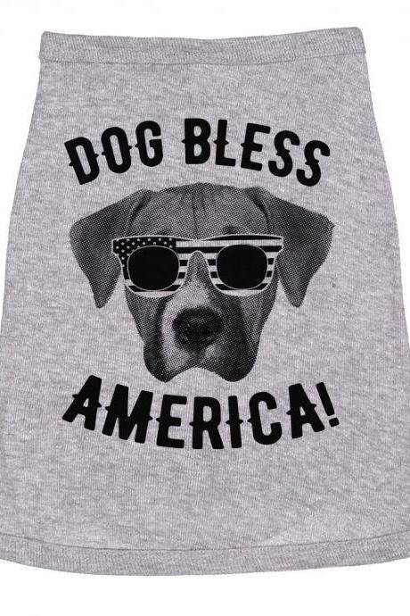Dog Bless America Shirt, Small Dog Tees, Funny Dog Tops, Small Breed Dog Shirts, Funny Quote Dog Tops, Jack Russel Shirt, Terrier Shirt