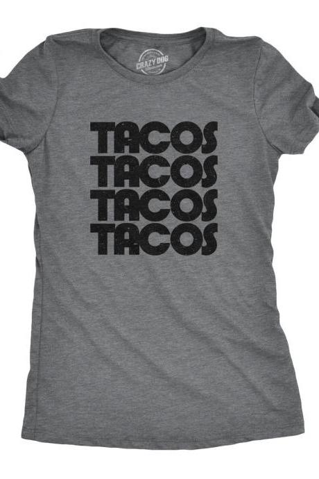 Funny Taco Shirt, Womens Taco Shirt, Womens Retro Shirt, Taco Tuesday, Fitness Taco Shirt, Funny Womens Taco Shirt, 80s shirt, Taco Party