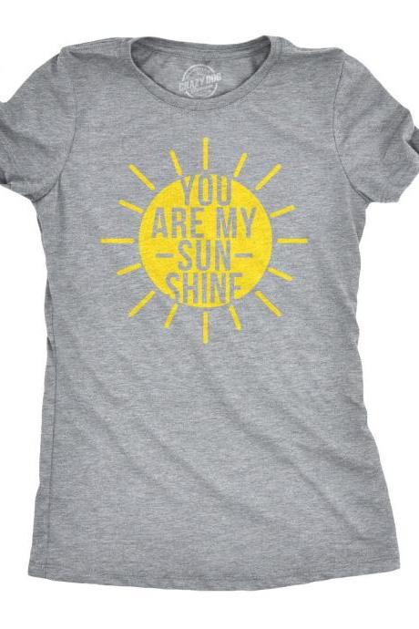 You Are My Sunshine T Shirt, Outdoors Shirt, Summer Camp Shirt, Camping Gifts Women, Nature T Shirt, Great Outdoors Shirt, Funny Camping