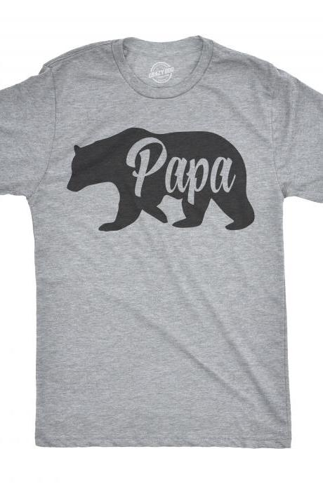 Papa Bear T shirt, Fathers Day Gift, Gift for Dad, Dad Shirt, Papa Shirt For Men, Grandpa Shirt, Funny T shirt for Dads, Papa Gift, Bear Dad
