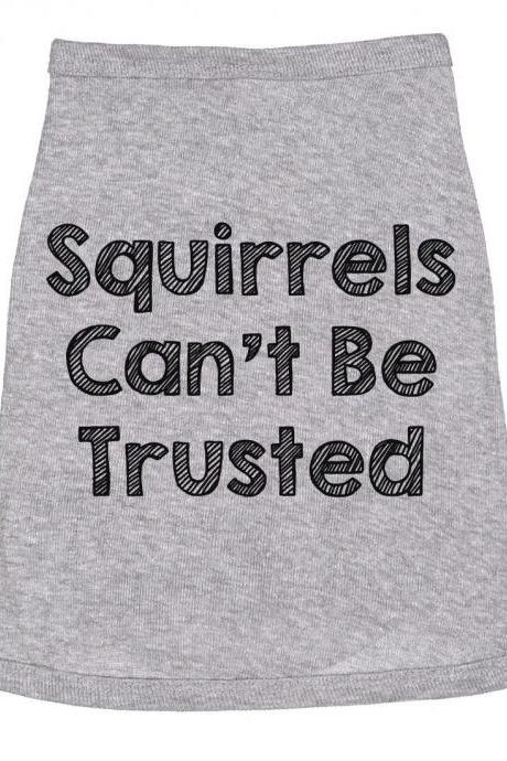 Jack Russell Dog Shirt, Squirrels Cant Be Trusted, Clothes For Dog, Cute Dog Clothes, Funny Dog T Shirt, Dog Fancy Dress, Dog Apparel