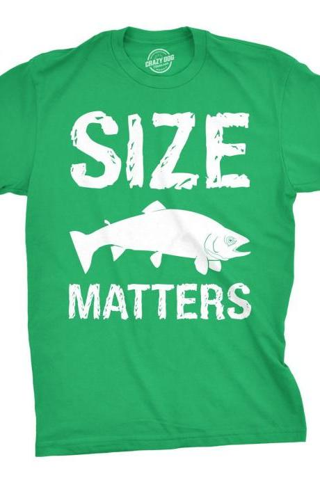 Mens Size Matters Shirt, Mens Fishing Tshirt, Funny Fishing Shirt, Fisherman Gifts, Present for fisherman, Camping Holiday Gifts