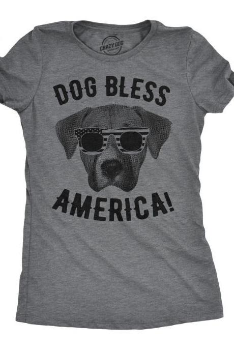 Dog Bless America, Funny Dog Lover Gifts, Dog Face Glasses Shirt, Stars And Stripes, American Celebration Shirt, Murica Shirt
