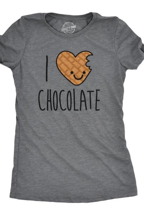 SCENTED Shirts Chocolate, Womens Chocolate Heart T Shirt, I Love Chocolate SMELLING Shirt, Perfumed Chocolate Tee, Shirts That Smell