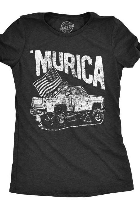 Murica Flag Shirt, Monster Truck Shirt, Independence Day Truck Shirt, 4th Of July Beer Drinking Shirt, America Patriotic Shirt