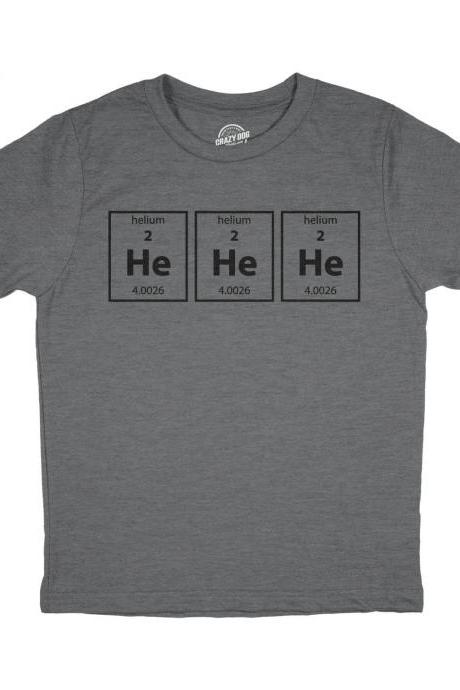 Nerdy Science T Shirt Child, Youth He He He Shirt, Kids Periodic Table Shirt, Chemistry Funny T Shirt, Elements T Shirt, Mischievous Shirts