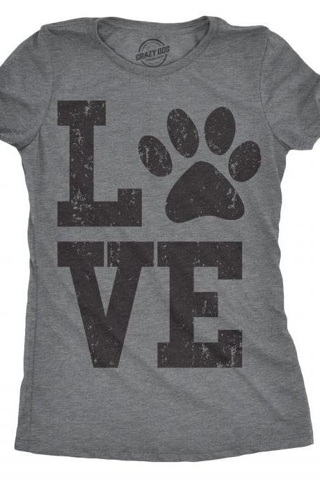 Love Dog Shirt, Paw Print Shirt, Dog Paw Shirt, Cute Dog Shirt, Dog Owners Gifts, Funny Dog Shirt, Women's Dog Shirt, Valentine's Day