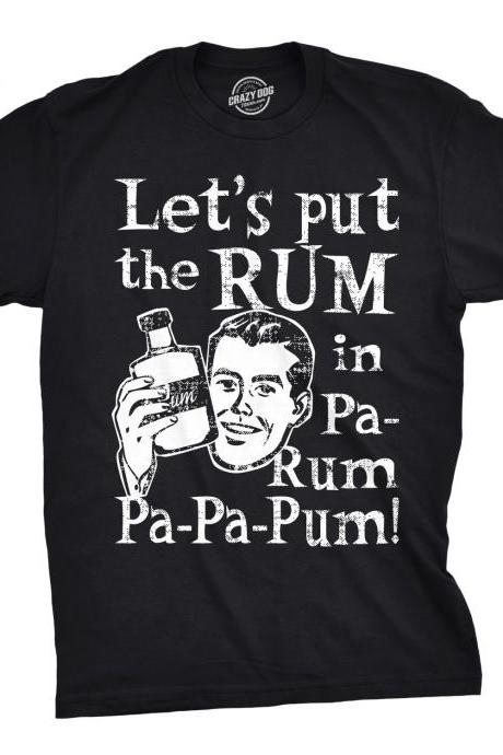 Funny Christmas Carol Shirt Man, Rum Christmas, Black T Shirt Xmas, Rum Lover Gift, Xmas Drinking Gifts