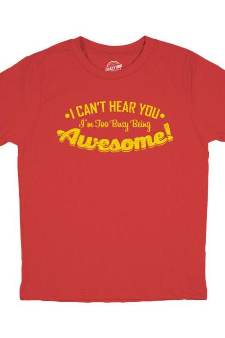 Youth Gamer Shirt, Awesome Shirt, Gamer Gift, Nerdy Shirts, Shirts For Gamers, Funny Gaming Shirt, I Cant Hear You Im Too Busy Being Awesome