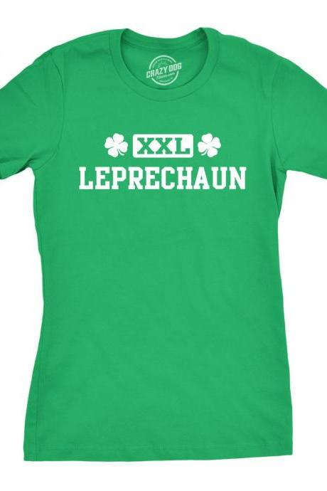 XXL Leprechaun Womens Shirt, Clover Shirt Girls, Lucky Green Irish Shirt, Luck Of The Irish, Funny Shirts, Leprechaun Top, Big Irish