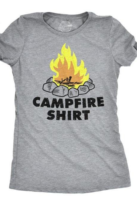 Womens Campfire T Shirt, Camping Holiday Shirt, Summer Vacay Camping, Great Outdoors Shirt, Camper Shirt Women, Bachelorette Camping Shirt
