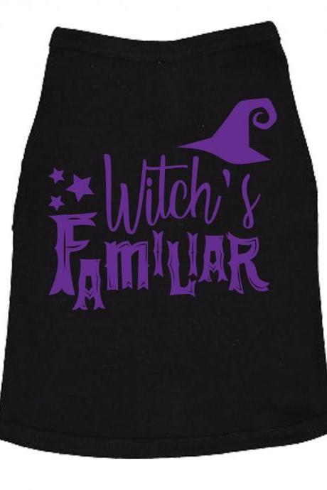 Cute Dog Clothes, Funny Dog T Shirt, Halloween Dog Tee, T Shirts FOR DOGS, Halloween Dog Shirt, Novelty Dog Shirt, Witchs Familiar