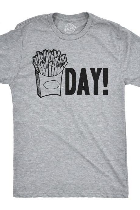 Friday Shirt, French Fries Shirt, Sarcastic Gym Shirt, Funny Mens Shirt, Thank God Its Friday, Mens Cool Tees, Mens Workout Shirt, Fry Day