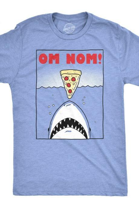 Om Nom Shirt, Shark Eating Pizza Tshirt, Great White Shark Shirt, Men's Shark T Shirt, Big Shark Shirt, Funny Shark Gifts, Funny Movie Shirt