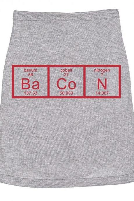 Small Dog Shirts, Chemistry Bacon Dog T Shirt, Clothes For Dog, Cute Dog Clothes, Funny Dog T Shirt, Dog Fancy Dress, Novelty Dog Shirt