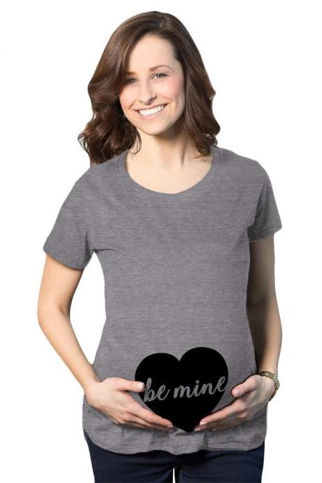 Be Mine Heart Baby Maternity Shirt, Heart Valentines Day Pregnancy Tee, Baby Heart Pregnant Shirt, Mom To Be Heart, Cute Baby Bump Shirt