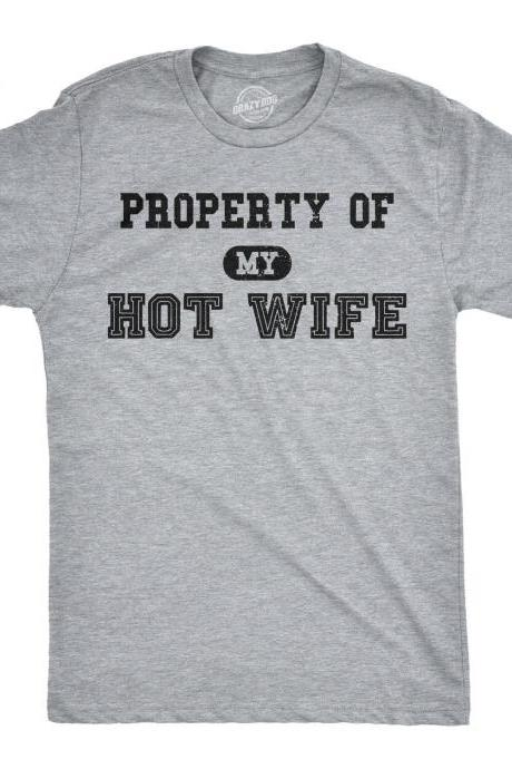 Groom Gift From Bride, Hot Wife Shirt, Funny Groom Shirt, Bride Groom T Shirt, Wifey Hubby T Shirt, Ball Chain Groom