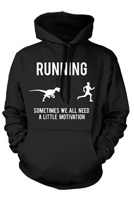 Funny Runners HOODIE, Sarcastic Fitness Sweatshirt Men, Dinosaur Running Shirt, Gift For Runner Under 20, Running Motivation Sweater