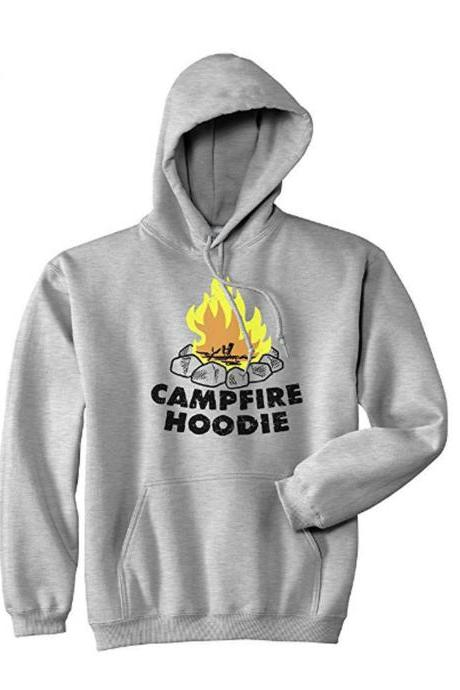 Campfire HOODIE, Camping Gifts, Summer Camp Hoodie, Fishing Hoodie, Camping Vacation, Great Outdoors Top, Weekend Camping