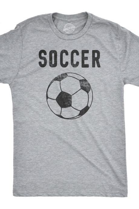 Soccer Dad Shirt, Mens Fathers Football Ball Logo Shirt, Guys Footie Tee, Soccer Lover Football Gift, Game Day Shirts Man S M L XL XXL