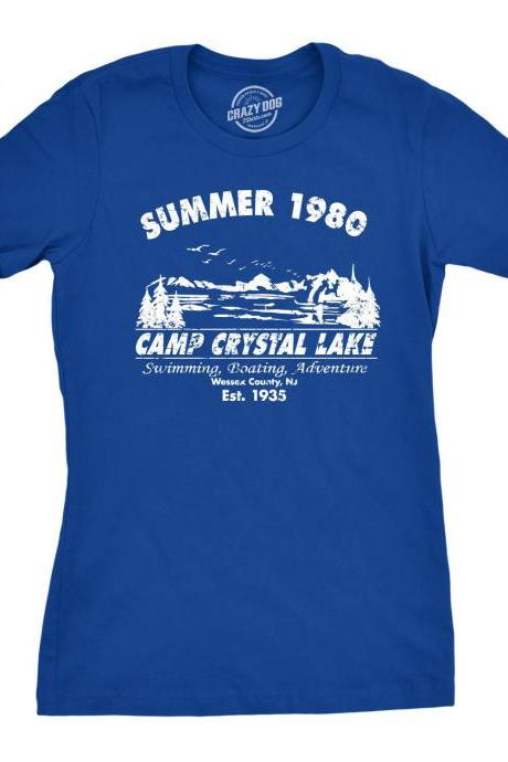 Camp Crystal, Cool Womens Shirt, Funny Womens Shirt, Summer 1980, Funny Camping Shirt, Womens Camping Shirt, Camping Shirt for Women