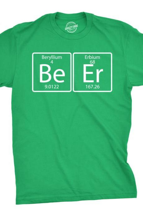 Beer Element Shirt, Men's Booze T-Shirt, St. Patrick's Day T-Shirt, Irish party Tee, Beer T Shirt, Funny Drinking T-Shirt, Chemistry Shirt