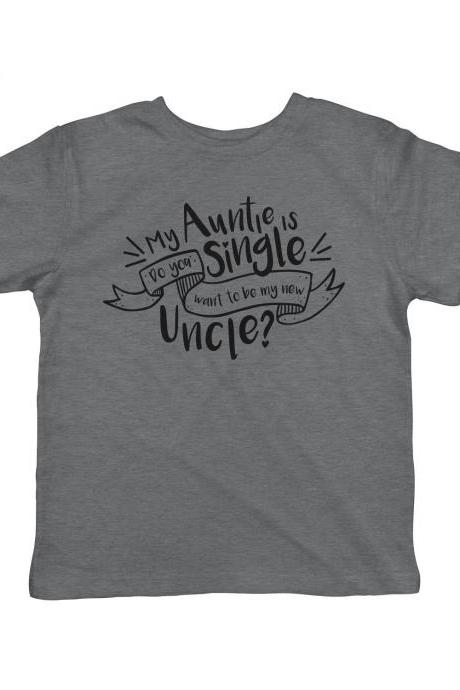Funny Kids Clothes, Funny Toddler Shirts, Single Auntie Romper, Auntie Baby Gift, Toddler Shirts With Sayings, Funny Quotes Toddler Tees