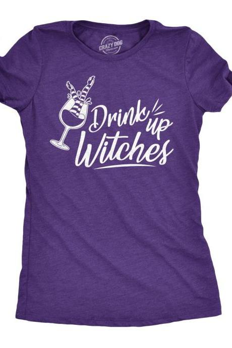Drink Up Witches T Shirt, Naughty Witch T shirt, Halloween Shirt Women, Bachelorette T Shirt, Womens Sexy T Shirt, Halloween Drinking Shirt