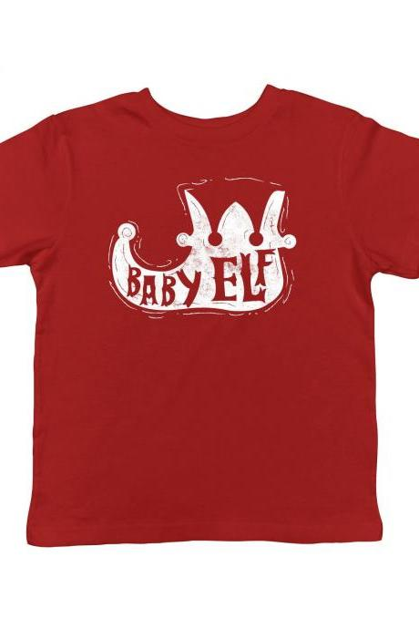 Baby Elf Boot Tee, Lil Elf Shirt, Babies Christmas Shirt, Toddler Festive Top, Funny Kids Xmas Shirts, Family Christmas Clothes