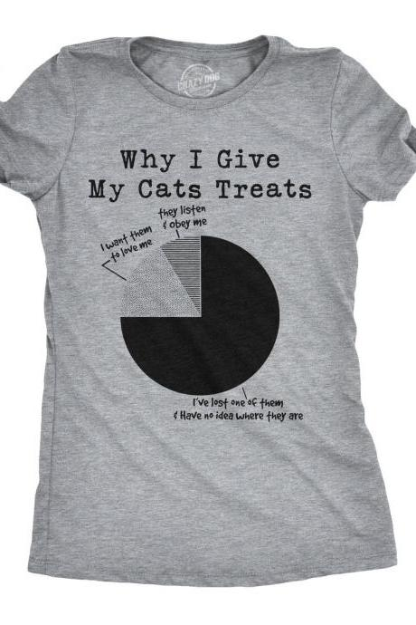 Crazy Cat Mom Shirt, Funny Cat Shirt, Womens Cat T shirt, Gift for Cat Lovers, Funny Womens Shirt, Why I Give My Cats Treats, Lost Cat