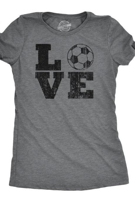 Soccer Mom Shirt, Love Soccer Shirt, Womens Football Shirt, Funny Football Tee, Soccer Lover Football Gift, Womens Football Shirts