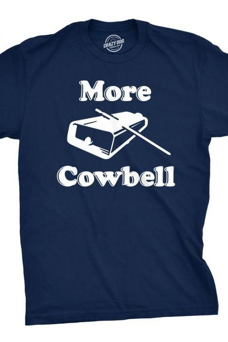 More Cowbell Shirt, Clubbing Shirt Men, House Music T Shirt, Cowbell Logo Tee, Festival Shirt Men, Techno Shirt, Dance Music Shirt