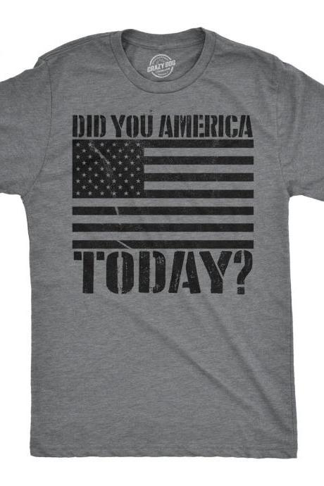 Independence Day Shirt, 4th of July Shirt, USA Shirt, Patriotic Shirt, America Party Shirt, Murica Shirt, Beer Shirt, Did You America Today?
