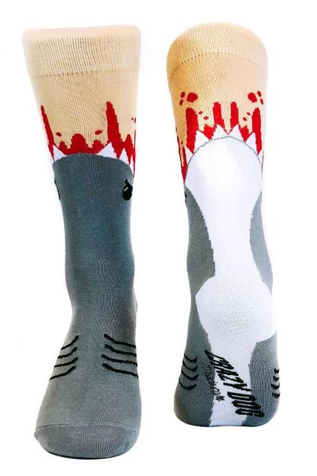 Funny Dad Socks, Shark Bite Socks, Funky Shark Socks, Shark Lover Gifts Under 20, Shark Attack Socks, Funny Groomsmen Socks, Joke Socks