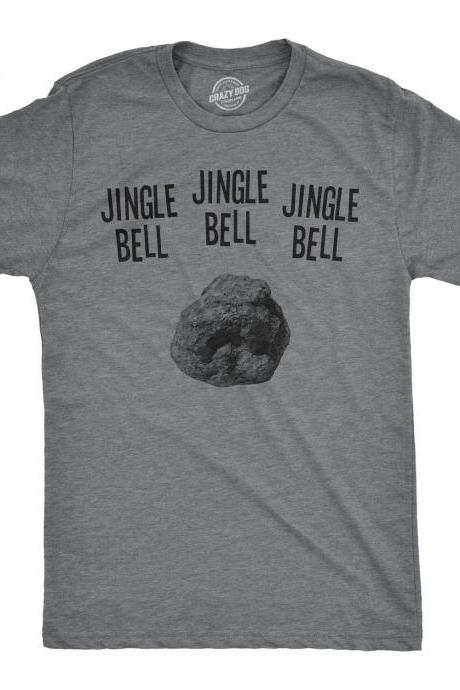 Christmas Shirts Men, Jingle Bell Rock Tee, Festive Man Tops With Quotes On, Holiday Shirts With Sayings Guys, Funny Mens Christmas Shirts