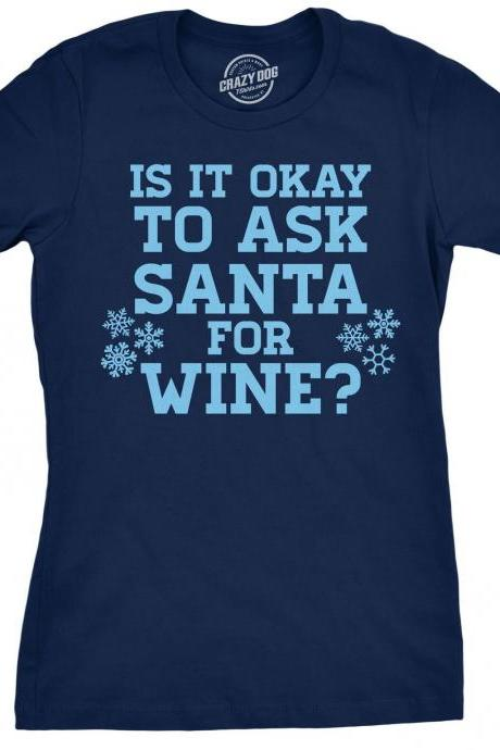 Funny Santa Saying Shirt, Christmas Wine Shirt Women, Shirts With Sayings Christmas, Christmas Drinks Shirt, Xmas Wine Shirt Women