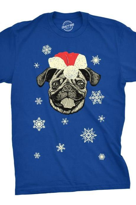 PUG Christmas Shirt, Santa PUG T Shirt, Christmas In July, Xmas Dog Shirt, Funny Pug Top, Pug Lover Gift, Christmas Gift For Pug Owner