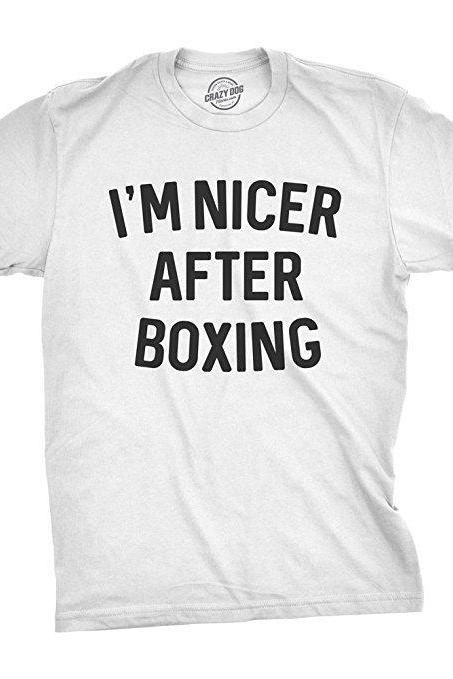 Boxing Shirt Men, Im Nicer After Boxing Shirt, Boxer Gifts, Funny Shirt For Men, Funny Shirt, Crazy Shirt, Cool Mens Shirt, Fight Shirt