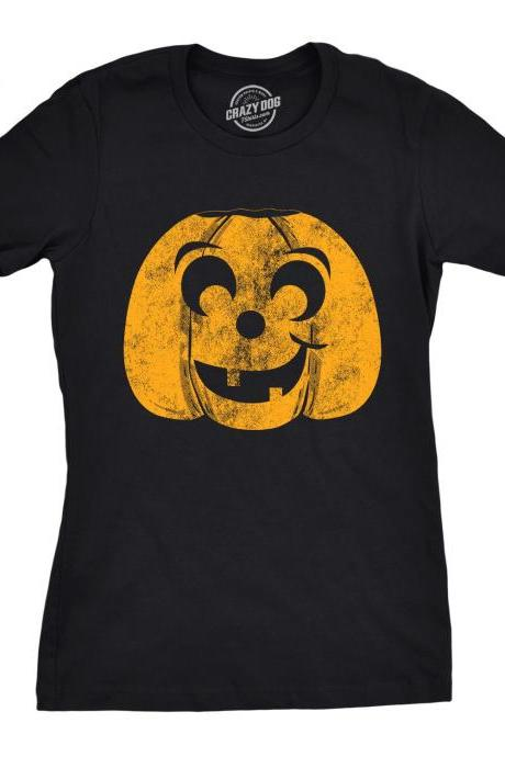 T Shirt For Halloween, Pumpkin Face T Shirt, Womens Halloween T Shirt, Pumpkin Tee, Halloween Costume Ideas, Spooky T Shirts