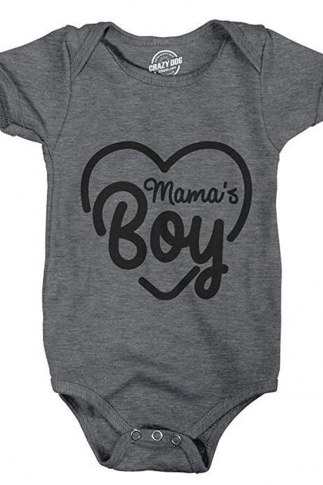 Baby Undershirts, Funny Baby Clothes, Mamas boy, Rompers With Sayings, Cute Romper, Black Baby Romper, Funny Quotes Romper