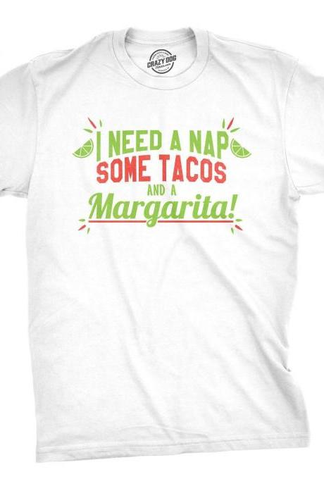I love Tacos Shirt, Mens Food T Shirt, Taco Tuesday Shirt, Mens Nap Tacos Margarita Shirt, Funny Drinking Shirt, Funny Bachelor Party Shirt