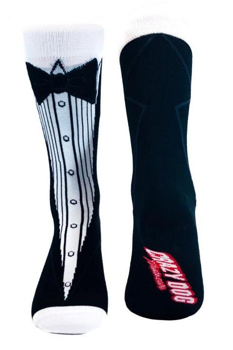 Funky Tuxedo Socks Man, Groomsmen Socks, Groom Gifts Under 20, Dinner Suit Mens Socks, Joke Bow Tie Socks, Hes Getting Married Socks