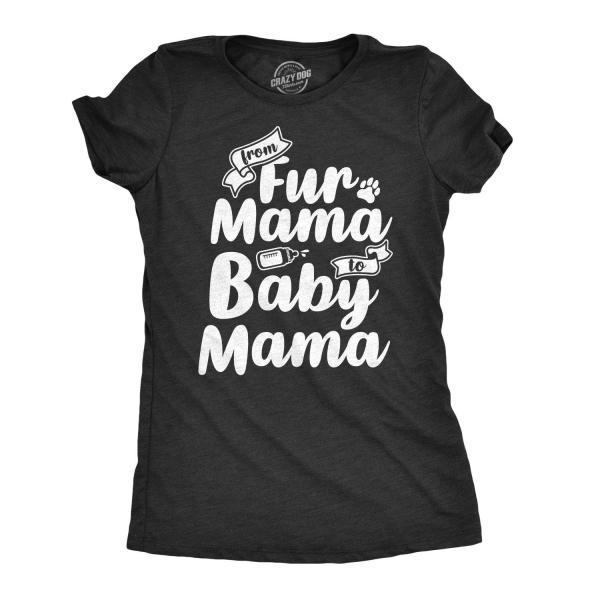 First Time Mom T Shirt, Fur Mama To Baby Mama, Dog Mom Shirt, Cute First Time Mom Shirts, Cat Mom Shirts, Fur Mama Pregnancy Announcement