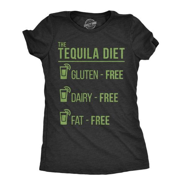 The Tequila Diet Shirt, Tequila Drinker Tee, Party Shirts Women, Funny Shirts Women, Funny Drinking Shirt, Tequila Diet Guide