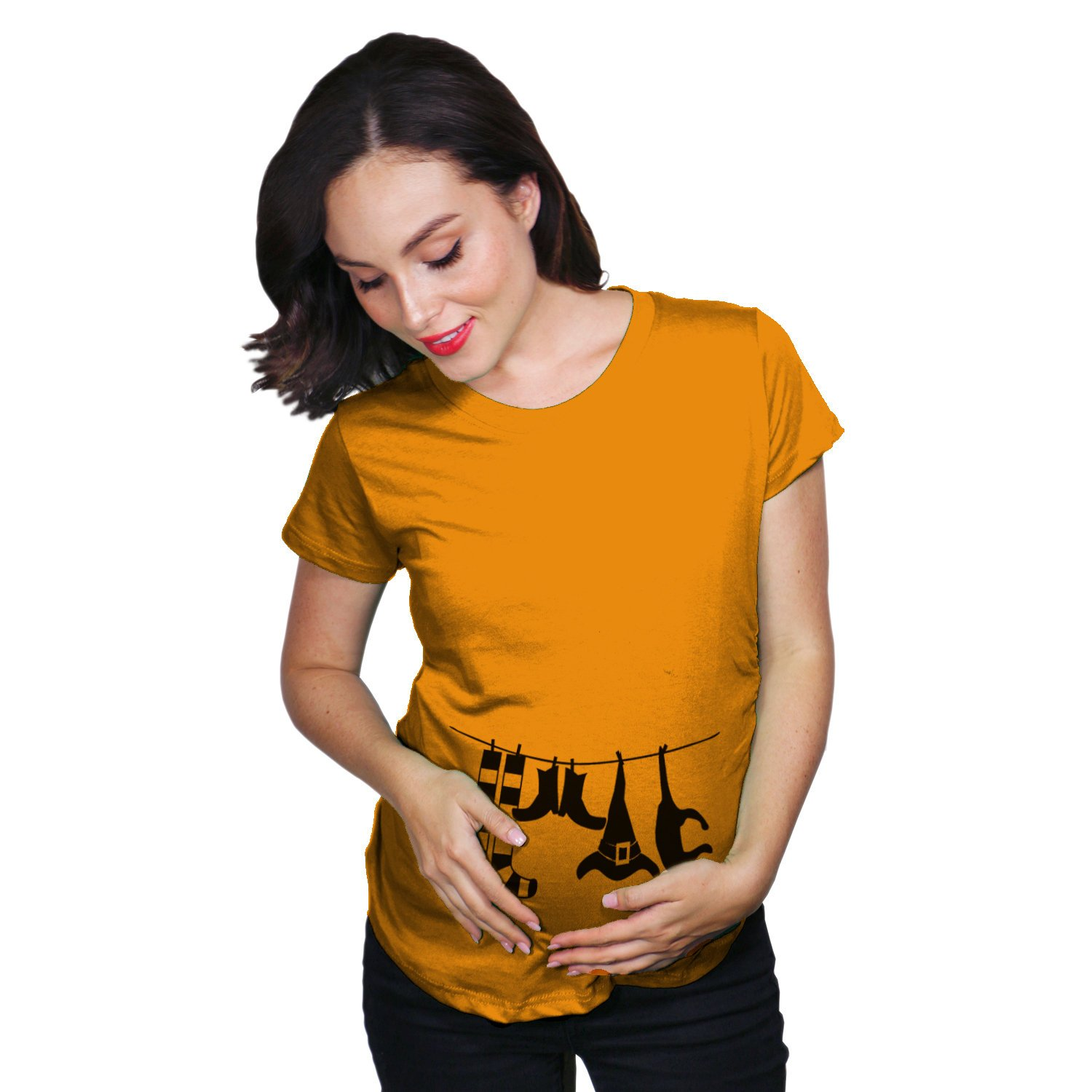 Halloween Pregnancy T Shirt.Witch Pregnancy Shirt Witch Clothesline Halloween Maternity T Shirt New Mom Baby Halloween Halloween Pregnancy Reveal